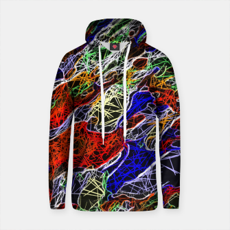 Thumbnail image of psychedelic rotten sketching texture abstract background in red blue green Cotton hoodie, Live Heroes