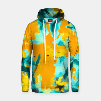 Thumbnail image of splash painting texture abstract background in green and orange Cotton hoodie, Live Heroes
