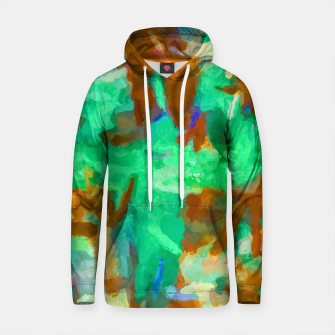 Thumbnail image of splash painting texture abstract background in green and brown Cotton hoodie, Live Heroes