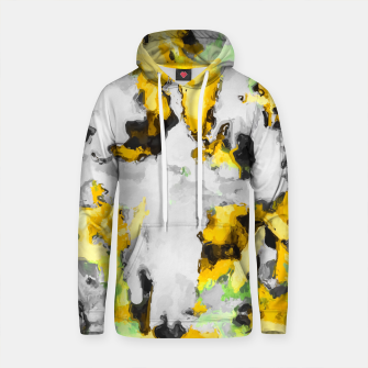Thumbnail image of splash painting texture abstract background in yellow black green Cotton hoodie, Live Heroes