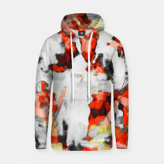 Thumbnail image of splash painting texture abstract background in red pink yellow black Cotton hoodie, Live Heroes