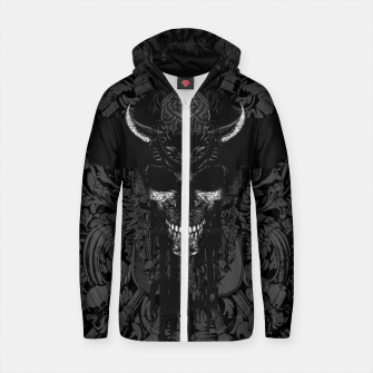 Better The Devil You Know Cotton zip up hoodie thumbnail image