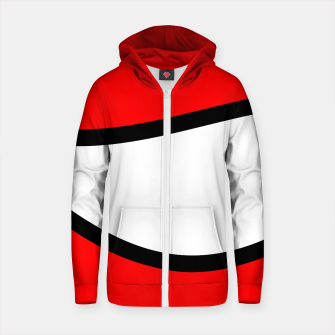 Miniaturka Abstract pattern - red, black and white. Cotton zip up hoodie, Live Heroes