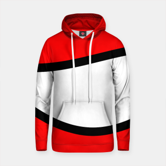 Thumbnail image of Abstract pattern - red, black and white. Cotton hoodie, Live Heroes
