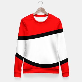Miniaturka Abstract pattern - red, black and white. Woman cotton sweater, Live Heroes