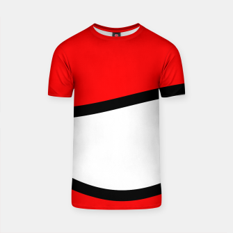 Miniaturka Abstract pattern - red, black and white. T-shirt, Live Heroes