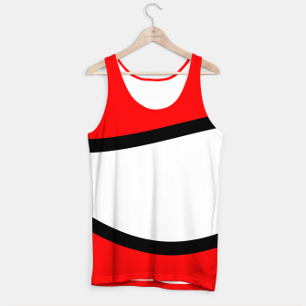 Miniaturka Abstract pattern - red, black and white. Tank Top, Live Heroes