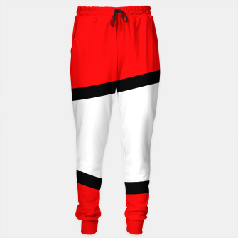 Miniaturka Abstract pattern - red, black and white. Cotton sweatpants, Live Heroes