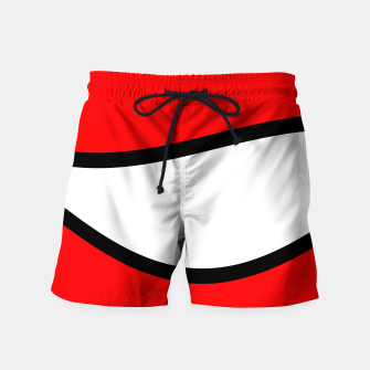 Miniaturka Abstract pattern - red, black and white. Swim Shorts, Live Heroes