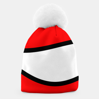 Miniaturka Abstract pattern - red, black and white. Beanie, Live Heroes