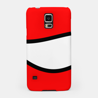 Miniaturka Abstract pattern - red, black and white. Samsung Case, Live Heroes