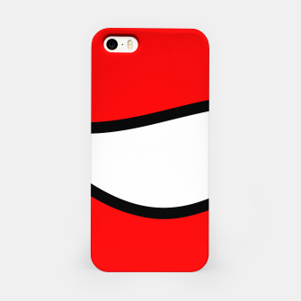 Miniaturka Abstract pattern - red, black and white. iPhone Case, Live Heroes