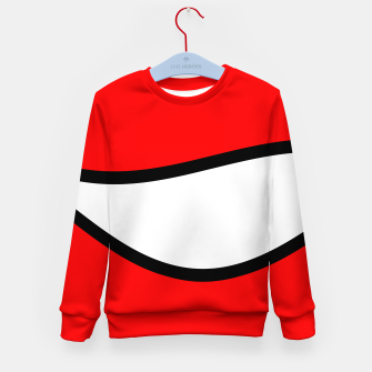 Miniaturka Abstract pattern - red, black and white. Kid's sweater, Live Heroes