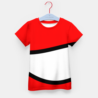 Miniaturka Abstract pattern - red, black and white. Kid's t-shirt, Live Heroes