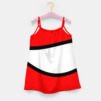 Miniaturka Abstract pattern - red, black and white. Girl's dress, Live Heroes