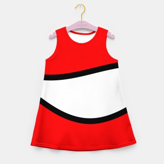 Miniaturka Abstract pattern - red, black and white. Girl's summer dress, Live Heroes