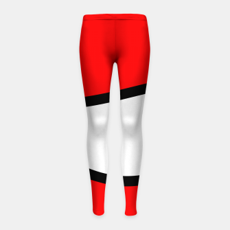 Miniaturka Abstract pattern - red, black and white. Girl's leggings, Live Heroes
