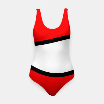 Miniaturka Abstract pattern - red, black and white. Swimsuit, Live Heroes