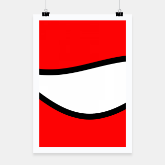 Miniaturka Abstract pattern - red, black and white. Poster, Live Heroes