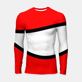 Miniaturka Abstract pattern - red, black and white. Longsleeve rashguard , Live Heroes