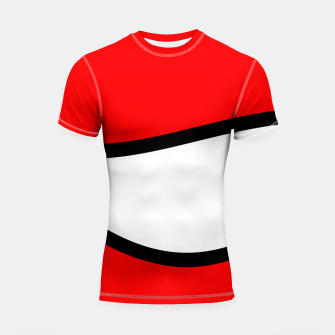 Miniaturka Abstract pattern - red, black and white. Shortsleeve rashguard, Live Heroes