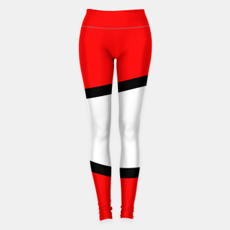 Miniaturka Abstract pattern - red, black and white. Leggings, Live Heroes