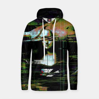 Thumbnail image of Mona Lisa Glitch Cotton hoodie, Live Heroes