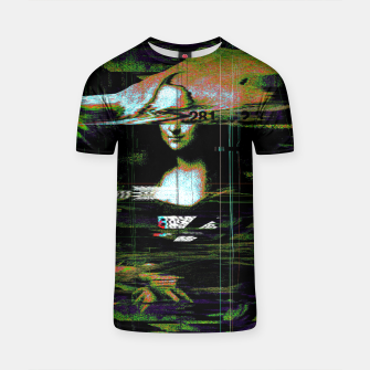 Thumbnail image of Mona Lisa Glitch T-shirt, Live Heroes