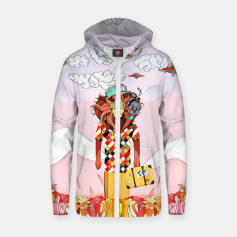 Thumbnail image of Lion Cotton zip up hoodie, Live Heroes