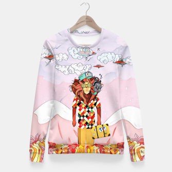 Thumbnail image of Lion Woman cotton sweater, Live Heroes