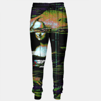 Thumbnail image of Mona Lisa Glitch Cotton sweatpants, Live Heroes