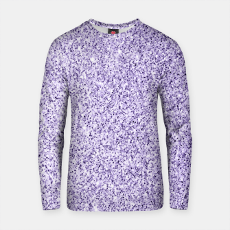 Thumbnail image of Ultra violet light purple glitter sparkles Cotton sweater, Live Heroes