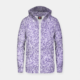 Thumbnail image of Ultra violet light purple glitter sparkles Cotton zip up hoodie, Live Heroes