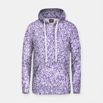 Thumbnail image of Ultra violet light purple glitter sparkles Cotton hoodie, Live Heroes