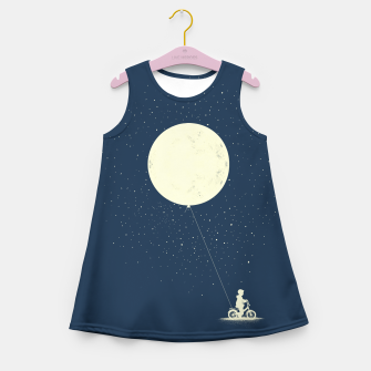 THE BOY WHO STOEL THE MOON Girl's summer dress miniature