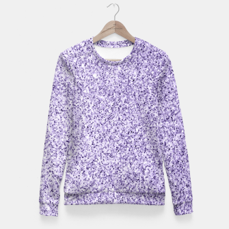 Thumbnail image of Ultra violet light purple glitter sparkles Woman cotton sweater, Live Heroes