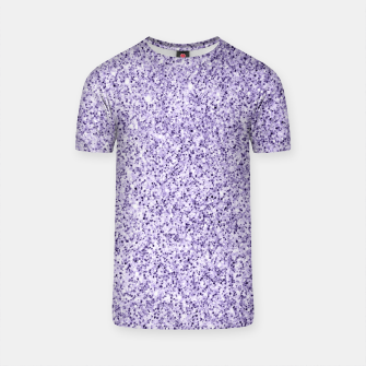 Thumbnail image of Ultra violet light purple glitter sparkles T-shirt, Live Heroes
