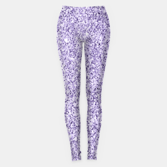 Thumbnail image of Ultra violet light purple glitter sparkles Leggings, Live Heroes