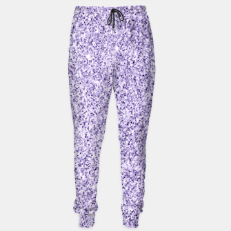 Thumbnail image of Ultra violet light purple glitter sparkles Cotton sweatpants, Live Heroes