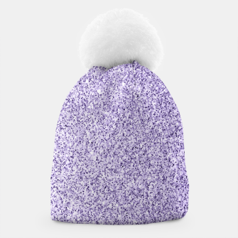Thumbnail image of Ultra violet light purple glitter sparkles Beanie, Live Heroes