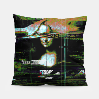 Thumbnail image of Mona Lisa Glitch Pillow, Live Heroes