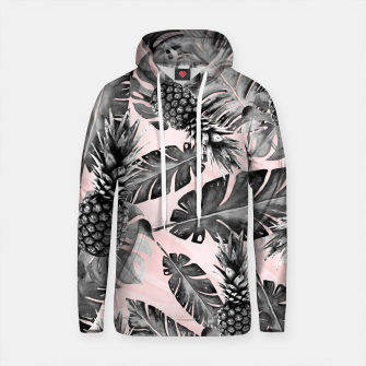 Thumbnail image of Leaves and pineapples pattern Sudadera con capucha de algodón, Live Heroes