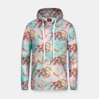 Thumbnail image of Sailor pattern octopuses and anchors Sudadera con capucha de algodón, Live Heroes