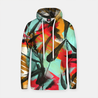 Thumbnail image of abstract paint and plants Sudadera con capucha de algodón, Live Heroes