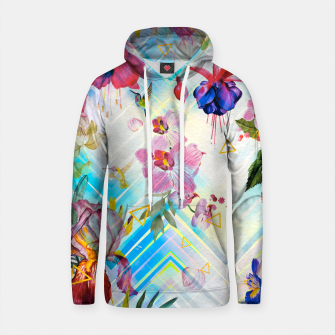 Thumbnail image of Geometric with tropical nature Sudadera con capucha de algodón, Live Heroes