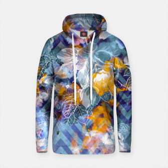 Thumbnail image of Abstract flowers and plants with geometric Sudadera con capucha de algodón, Live Heroes