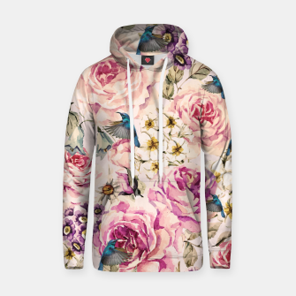 Thumbnail image of Flowers and birds Sudadera con capucha de algodón, Live Heroes