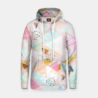 Thumbnail image of Abstract geometric textures and marble Sudadera con capucha de algodón, Live Heroes