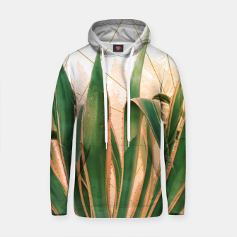 Thumbnail image of Cactus with geometric Sudadera con capucha de algodón, Live Heroes