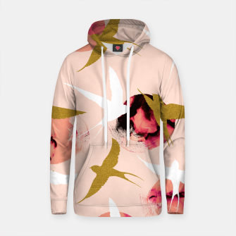 Thumbnail image of Bird flying with sunset Sudadera con capucha de algodón, Live Heroes